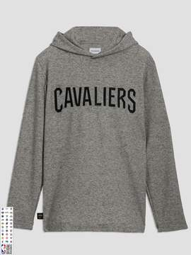 Frank and Oak Cleveland Cavaliers Waffle-Knit Pullover Hoodie in Grey