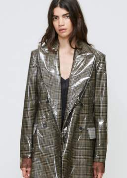 Calvin Klein Clear Overlay Double Breasted Coat