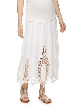 A Pea in the Pod Secret Fit Belly Lace Maternity Skirt
