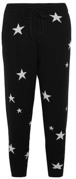 Chinti and Parker Star Cashmere Track Pants - Black