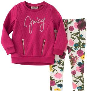 Juicy Couture Quilted Top & Leggings Set