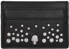 Alexander McQueen Black Studded Skull Card Holder