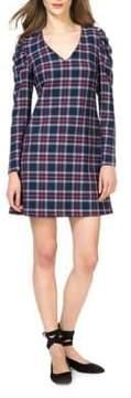 Donna Morgan Cotton Plaid Shift Dress