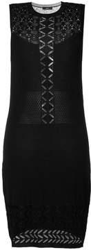 Diesel pointelle-knit trim dress