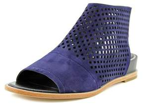Elie Tahari Venice Women Open Toe Suede Blue Wedge Sandal.