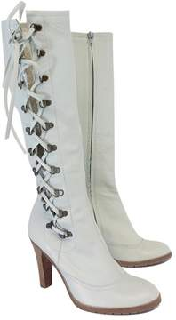 Marc Jacobs Light Powder Blue Leather Boots
