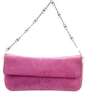 Nina Ricci Suede Flap Bag