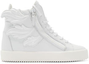 Giuseppe Zanotti White Wing London High-Top Sneakers
