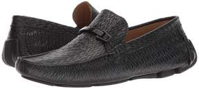 Matteo Massimo Stamped Leather Bit Driver Men's Slip-on Dress Shoes