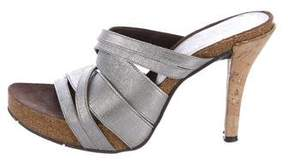 Donald J Pliner Platform Slide Sandals