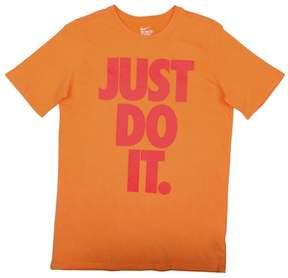 Nike Big Boys' (8-20) Just Do It Graphic T-Shirt-Orange-Large