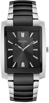 Bulova Stainless Steel Black Ion Watch - 98A117 - Men