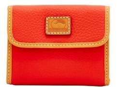 Dooney & Bourke Patterson Leather Small Flap Credit Card Wallet - SALMON - STYLE