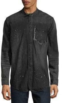 PRPS Speckled Cotton Button-Down Shirt