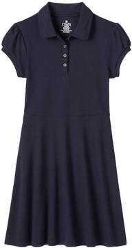 Chaps Girls 4-14 School Uniform Fit & Flare Short-Sleeved Dress