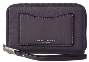Marc Jacobs Leather Recruit Zip Phone Wristlet. - GRAY - STYLE