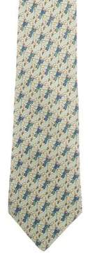 Hermes Silk Abstract Print Tie