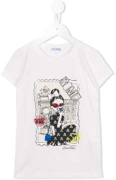 Simonetta Roma print T-shirt