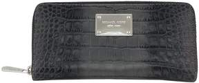 Michael Kors Grey Crocodile Embossed Wallet - GREY - STYLE