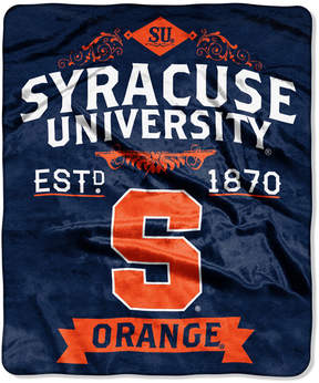 Northwest Company Syracuse Orange Raschel Rebel Throw Blanket