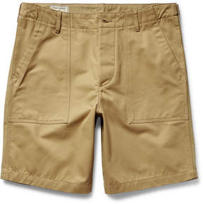 MAISON KITSUNÉ Two-Tone Cotton-Twill Shorts
