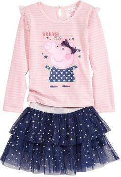 Peppa Pig T-Shirt & Scooter Skirt Set, Little Girls (4-6X)