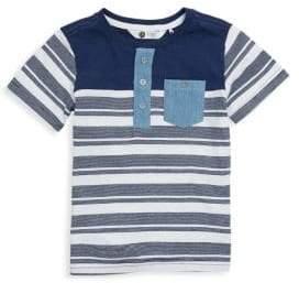 Petit Lem Little Boy's Cotton Striped Tee