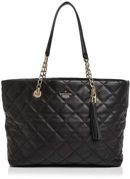 Kate Spade Emerson Place Priya Quilted Leather Tote - BLACK/GOLD - STYLE