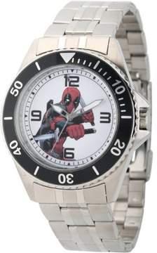 Marvel Marvel's Deadpool Men's Honor Stainless Steel Watch, Black Bezel, Stainless Steel Bracelet