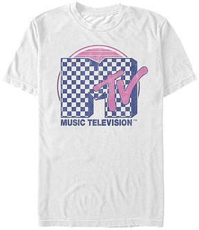 Fifth Sun MTV White & Pink Check TV Tee - Men