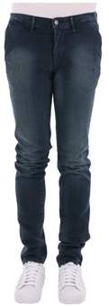 Trussardi Men's Blue Cotton Jeans.