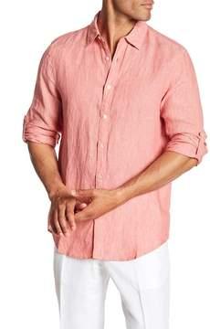 Perry Ellis Roll Sleeve Linen Blend Regular Fit Shirt