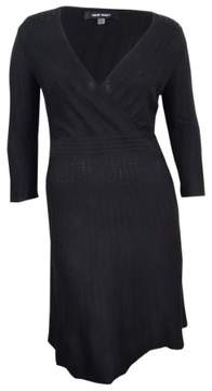 Nine West Women's Embellished Shoulder Sweater Dress (M, Black)