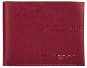 Tory Burch BLOCK-T TRAVEL FOLDABLE CARD CASE - IMPERIAL GARNET MULTI - STYLE