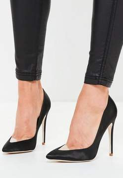 Missguided Black Clear Toe Pointed Pumps