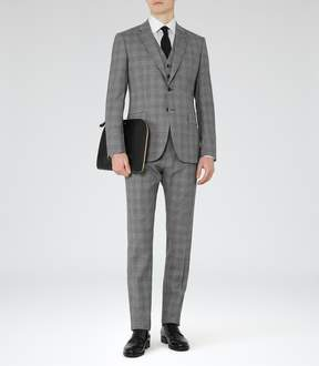 Reiss Crow Modern-Fit Check Suit