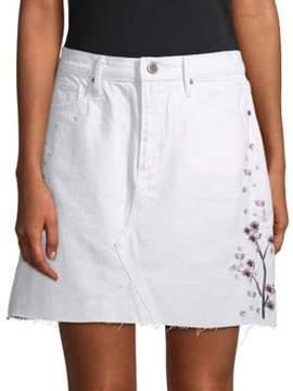 Driftwood Stef Embroidered Denim Skirt
