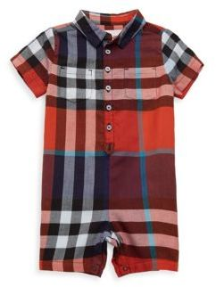 Burberry Baby's & Toddler's Plaid Buttoned Longtall