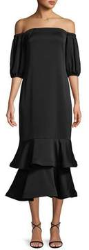 Shoshanna Aguilera Off-the-Shoulder Tiered Dress