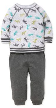 Little Me Baby Boy's Two-Piece Quilted Sweatshirt & Jogger Pants Set
