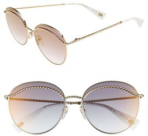 Marc Jacobs Women's 58Mm Round Sunglasses - Gold
