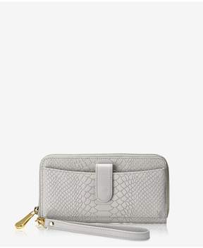 GiGi New York | City Wallet In Oyster Embossed Python | Oyster embossed python