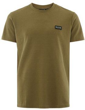 Nicce Khaki Waffle T-Shirt