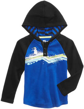 Epic Threads Snowman Graphic-Print Hooded Henley, Little Boys (4-7), Created for Macy's