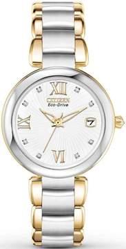Citizen Eco Drive White Dial SS Quartz Ladies Watch EO1114-52A