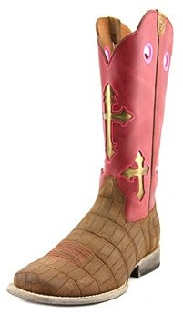 Ariat Ranchero Youth Square Toe Leather Pink Western Boot.