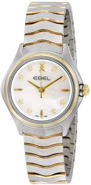 Ebel Wave Mother of Pearl Diamond Dial Two Tone Ladies Watch