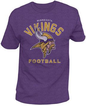 Authentic Nfl Apparel Men's Minnesota Vikings Midfield Retro T-Shirt