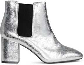 H&M Metallic Ankle Boots