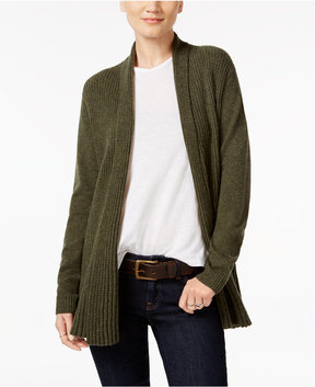 Charter Club Cashmere Ribbed Open-Front Cardigan, Created for Macy's